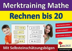 Merktraining Mathe - Rechnen bis 20