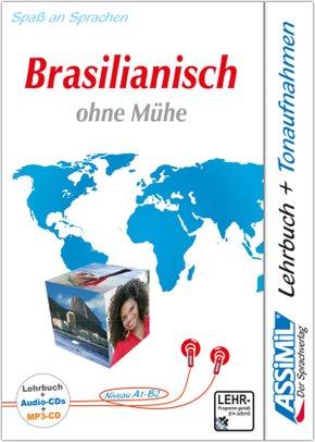 ASSiMiL Brasilianisch ohne Mühe: Lehrbuch + 4 Audio-CDs + 1 MP3-CD