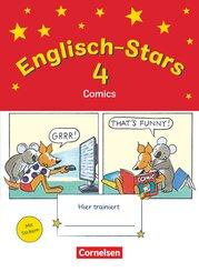Englisch-Stars: 4. Schuljahr - Übungsheft Comics mit Lösungsheft