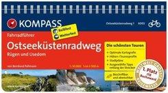 KOMPASS Fahrradführer Ostseeküstenradweg 1 Rügen und Usedom - Bd.1