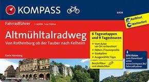 KOMPASS Fahrradführer Altmühltal-Radweg von Rothenburg ob der Tauber nach Kelheim