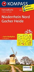 Kompass Fahrradkarte Niederrhein Nord, Gocher Heide