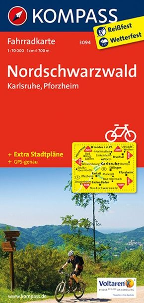Kompass Fahrradkarte Nordschwarzwald