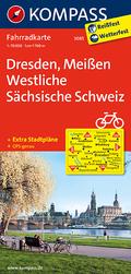 Kompass Fahrradkarte Dresden, Meißen, Westliche Sächsische Schweiz