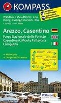 Kompass Karte Arezzo, Casentino