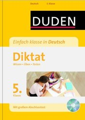 Duden Einfach klasse in Deutsch, Diktat 5. Klasse, m. MP3-CD
