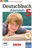 Deutschbuch, Gymnasium Niedersachsen: 5. Schuljahr, Arbeitsheft m. Übungs-CD-ROM
