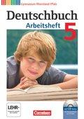 Deutschbuch, Gymnasium Rheinland-Pfalz: 5. Schuljahr, Arbeitsheft m. Übungs-CD-ROM