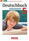 Deutschbuch, Gymnasium Nordrhein-Westfalen: 5. Schuljahr, Arbeitsheft