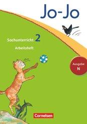 Jo-Jo Sachunterricht, Ausgabe N (Neubearbeitung 2012): 2. Schuljahr, Arbeitsheft