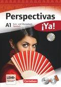 Perspectivas ¡Ya!: Kurs- und Arbeitsbuch Spanisch, m. 3 Audio-CDs, DVD u. Vokabeltaschenbuch; A1