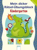 Mein dicker Rätsel-Übungsblock Kindergarten