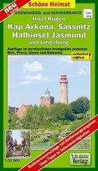Doktor Barthel Karte Insel Rügen, Kap Arkona, Sassnitz, Halbinsel Jasmund und Umgebung