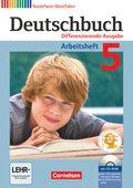 Deutschbuch, Differenzierende Ausgabe Nordrhein-Westfalen: 5. Schuljahr, Arbeitsheft, m. Übungs-CD-ROM