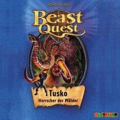 Beast Quest - Tusko, Herrscher der Wälder, 1 Audio-CD