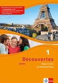 Découvertes Junior: Cahier d'activités Klassen 5 und 6 mit MP3-CD; Bd.1