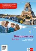Découvertes - Série bleue: Cahier d'activités, m. MP3-CD (Klasse 7); Bd.1