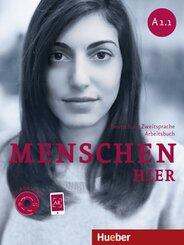 Menschen - Deutsch als Fremdsprache: Arbeitsbuch Integration, m. Audio-CD; Bd.A1/1