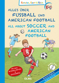 Alles über Fußball und American Football, Deutsch-Englisch, m. Audio-CD - All About Soccer and American Football