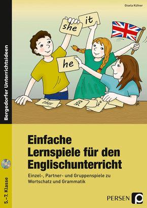 Einfache Lernspiele für den Englischunterricht, m. Audio-CD