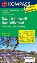 Kompass Karte Bad Liebenzell, Bad Wildbad