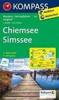 KOMPASS Wanderkarte Chiemsee - Simssee