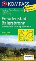 KOMPASS Wanderkarte Freudenstadt - Baiersbronn - Simmersfeld - Lossburg - Alpirsbach