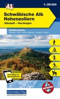 Kümmerly & Frey Outdoorkarte Schwäbische Alb, Hohenzollern