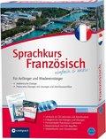 Sprachkurs Französisch einfach & aktiv, Lehrbuch m. 4 Audio-CDs