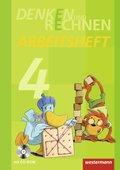 Denken und Rechnen, Ausgabe 2011: 4. Schuljahr, Arbeitsheft mit CD-ROM