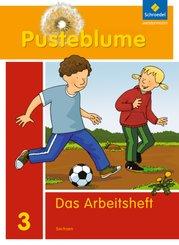 Pusteblume. Das Sprachbuch, Ausgabe 2011 für Sachsen: 3. Schuljahr, Arbeitsheft