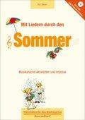 Mit Liedern durch den Sommer, m. Audio-CD