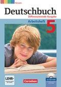 Deutschbuch, Differenzierende Ausgabe Hessen: 5. Schuljahr, Arbeitsheft mit Übungs-CD-ROM