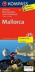 Kompass Fahrradkarte Mallorca, 2 Bl.