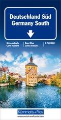 Kümmerly+Frey Karte Deutschland Süd Strassenkarte; Germany South