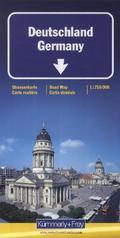 Kümmerly+Frey Karte Deutschland Strassenkarte; Germany; Allemagne; Germania