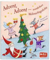 Advent, Advent - wunderbare Weihnachtsgedichte - Maxi Bilderbuch