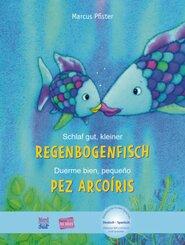 Schlaf gut, kleiner Regenbogenfisch, Deutsch-Spanisch - Duerme bien, pequeño pez Arcoiris