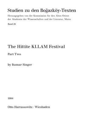 The Hittite KI. LAM Festival