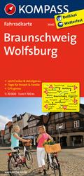 Kompass Fahrradkarte Braunschweig, Wolfsburg