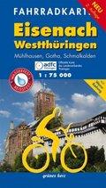 Fahrradkarte Eisenach, Westthüringen