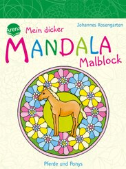 Mein dicker MANDALA Malblock - Pferde und Ponys