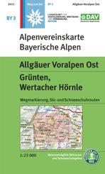 Alpenvereinskarte Allgäuer Voralpen Ost, Grünten, Wertacher Hörnle