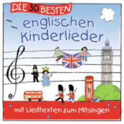 Die 30 besten englischen Kinderlieder, 1 Audio-CD