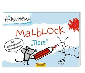 Krickel-Krakel Malblock 'Tiere'