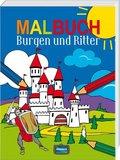 Malbuch Burgen und Ritter