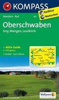 Kompass Karte Oberschwaben, Isny, Wangen, Leutkirch