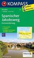 Kompass Karte Spanischer Jakobsweg