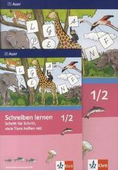 Schreiben lernen Schritt für Schritt, viele Tiere helfen mit, Neubearbeitung: 1./2. Jahrgangsstufe, Vereinfachte Ausgangsschrift für Rechtshänder, 2 Bde.