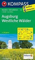 KOMPASS Wanderkarte Augsburg - Westliche Wälder